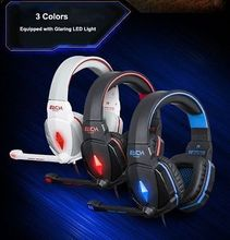 EACH Stereo 7.1 Surround Headset USB Headset Headband Earphone with Light for Computer PC GamerPC Notebook Pro Gaming w/Mic(China (Mainland))