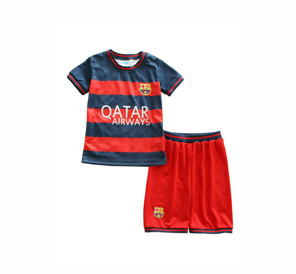 Thin breathable baby Children football Clothing set 2016 Kids clothing clothes boys sport twinset male kids football suit summer(China (Mainland))
