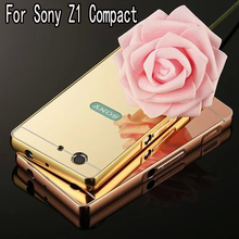 Buy Luxury Hybrid case Sony Xperia Z1 Compact Z1 Mini D5503 Hard Metal Aluminum Mirror Protector cover Sony Z1 Compact for $3.65 in AliExpress store