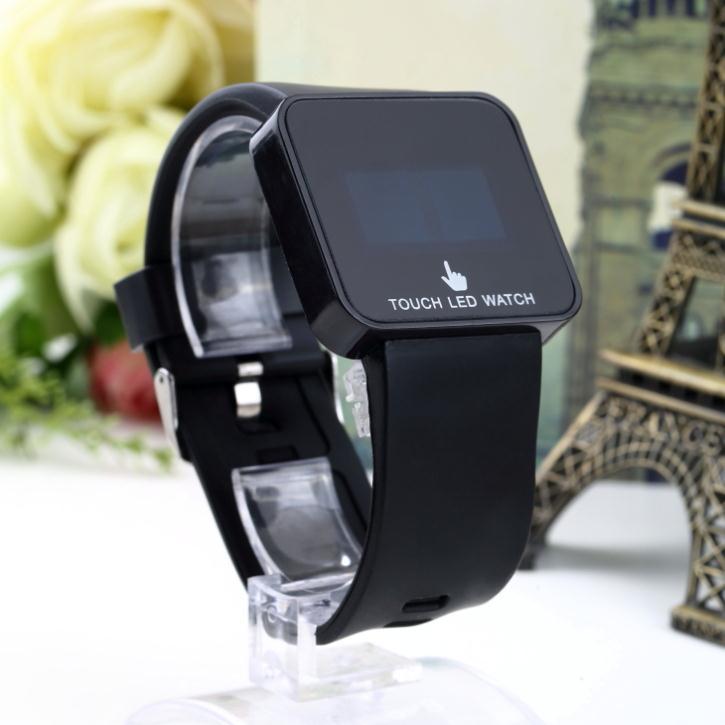 Гаджет  1Pcs Digital LED Touch Screen Silicone Date Unisex Stylish Wrist Watch None Часы
