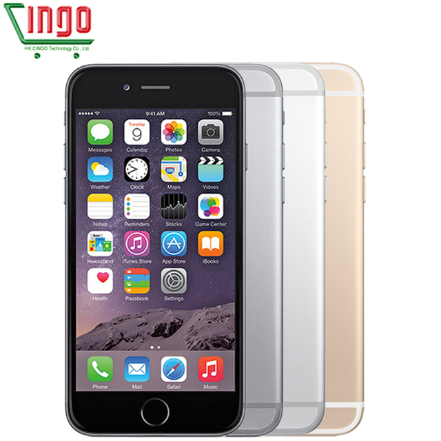Оригинальный Apple iPhone 6 Plus IOS9 16/64/128 ГБ ROM 5.5 дюймов IPS 8.0MP Отпечатков Пальцев 4 Г LTE Смартфон WI-FI GPS Используется iPhone 6 плюс