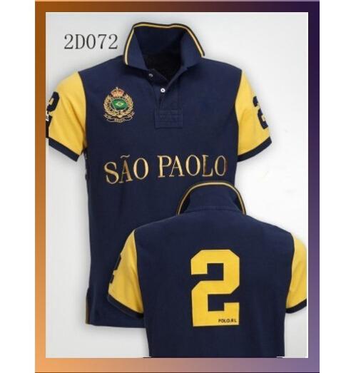 City Names Polo Shirts Dubai London Miami Sao Paolo New York Munich Milan RL Shirts Pure Cotton NO. 2 NO.5 Men Polo Shirts(China (Mainland))