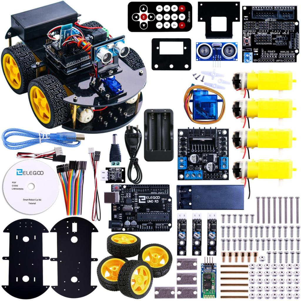 robot intelligent de voiture kit pour arduino uno r3 avec capteur ultrasons bluetooth module. Black Bedroom Furniture Sets. Home Design Ideas