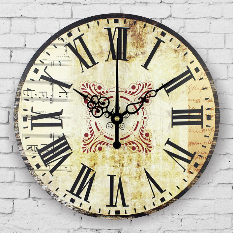 Buy vintage home decor wall clock - Wall picture clock decoration ...