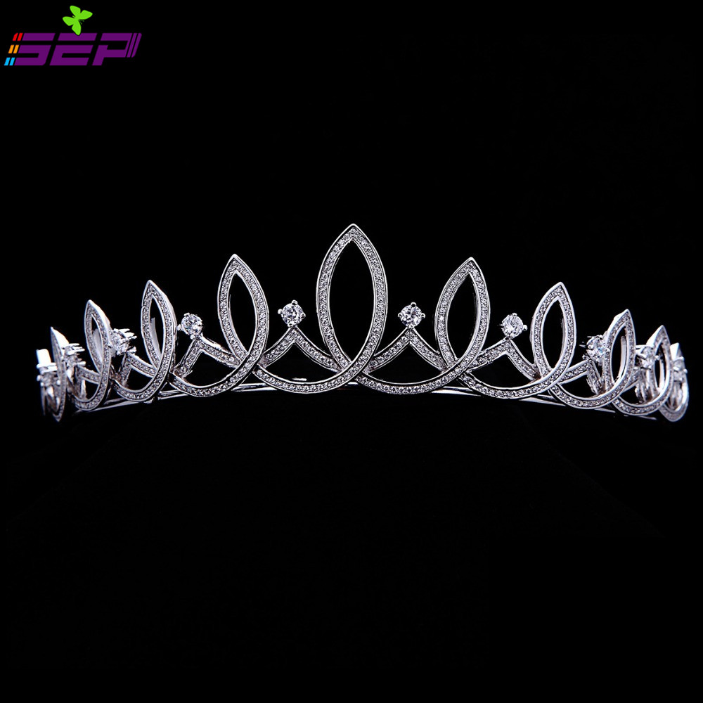 Bridal Wedding Full AAA CZ Tiara Crown Hair Jewelry Accessories Micro Pave Birthday Party Head Piece TR15020<br><br>Aliexpress