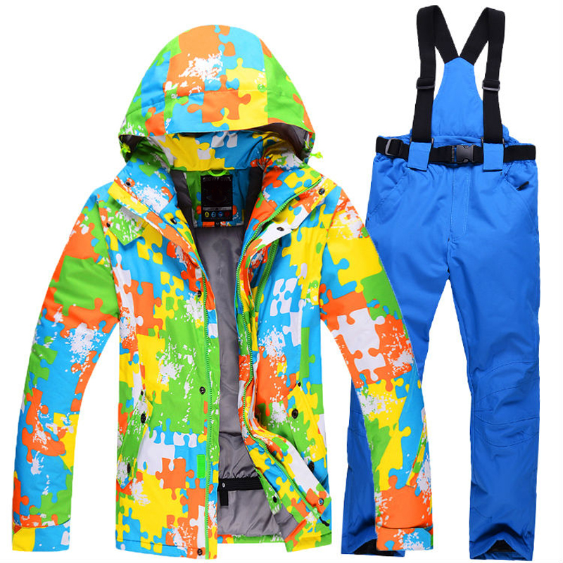 2016 new style winter man ski suit man jacket+pants outdoor skiing thickening warm waterproof windproof Breathable snow clothes(China (Mainland))