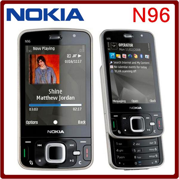Original Unlocked Nokia N96 Mobile Phone 3G network WIFI GPS 16GB internal Memory One Year Warranty(China (Mainland))