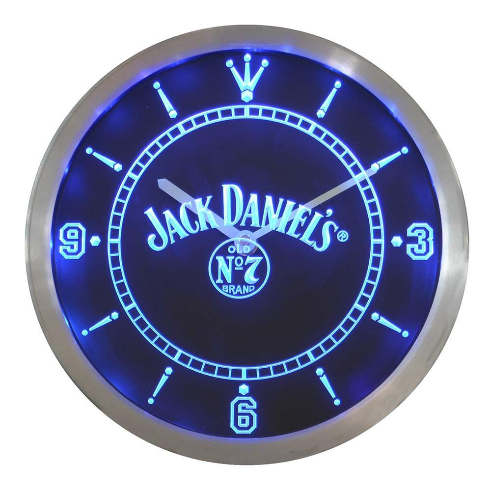 nc0485 Jack Whiskey Bar Beer Neon Sign LED Wall Clock(China (Mainland))