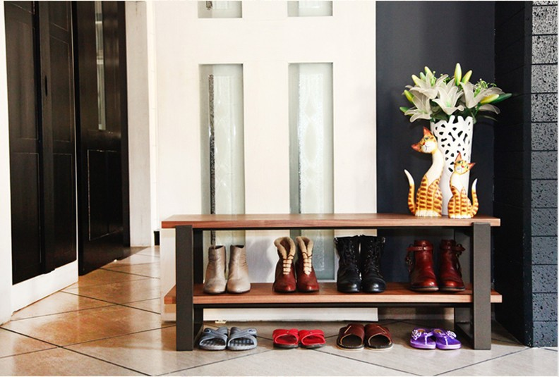 Simple modern wood foyer shoes stool stool changing his shoes IKEA shoe bench trial(China (Mainland))