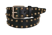 Free Shipping 2016 Europe Fashion Female Black Wide Studded Leather Gold Metal Rivet Belt For Women Ladies Free Shipping(China (Mainland))