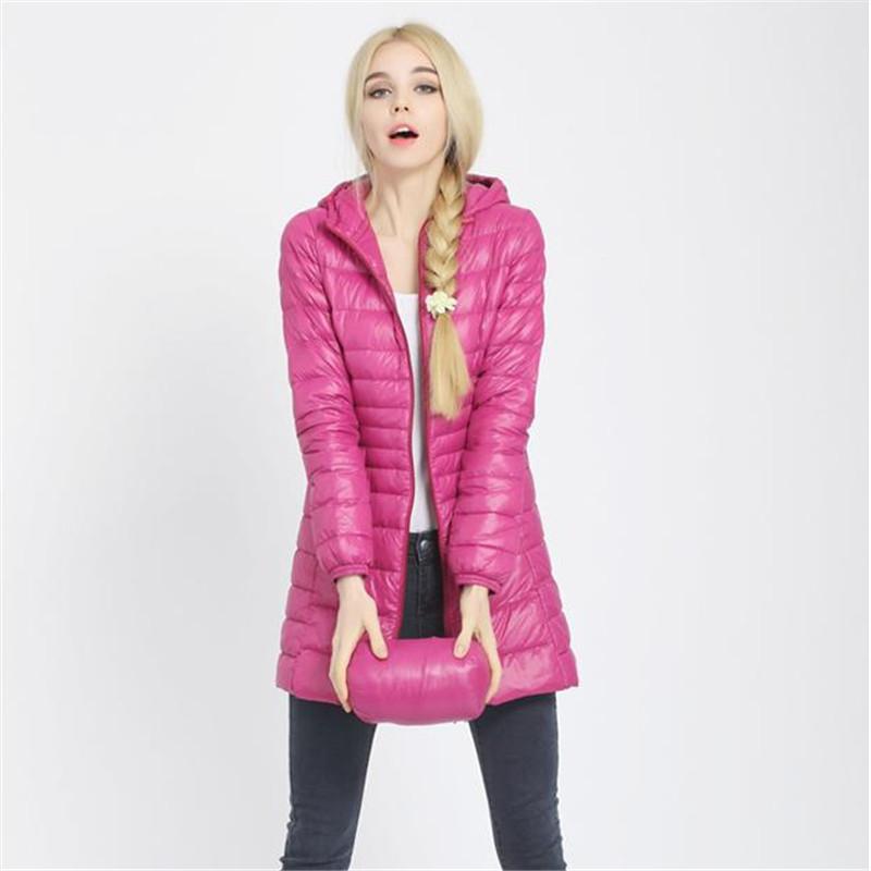 New Winter jacket Woman's Outerwear Slim Hooded Down Jacket Woman Warm Down Coat Women Light White Duck Down Free Shipping
