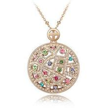 Genuine Gold Plated Cz Rhinestone Necklace Jewelry for Women(China (Mainland))