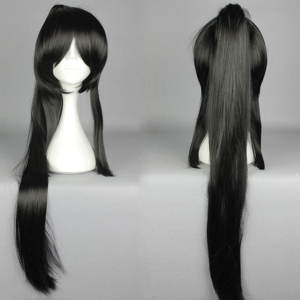 35'' sword art online TaroTachi ROLE STRAIGHT Claw Clip PonyTail Natural Black Cosplay Wig NEW - window of the world store