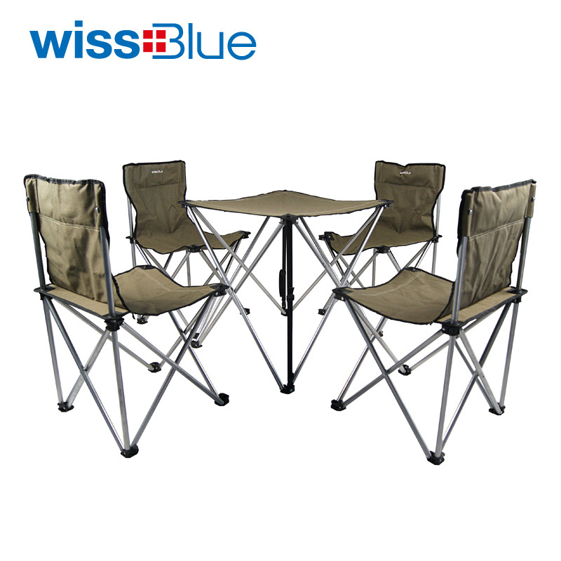 Wissblue blue portable outdoor tables and chairs set for Compact table and chairs set