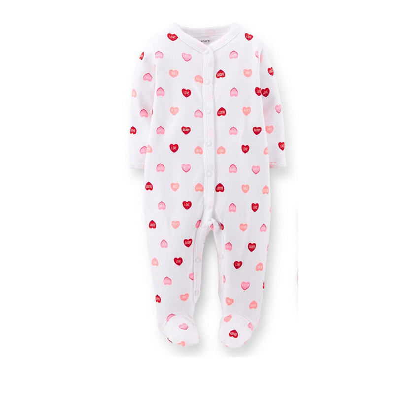 Free Shipping Baby Rompers Foot Cover Baby Girl's Pajamas Romper Newborn Feet Cover Sleepwear Body suits One-piece Romper(China (Mainland))