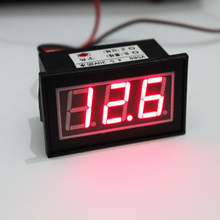 Waterproof 12V Red LED Digital Car Auto Voltmeter Motorcycle Battery Monitor Free shipping