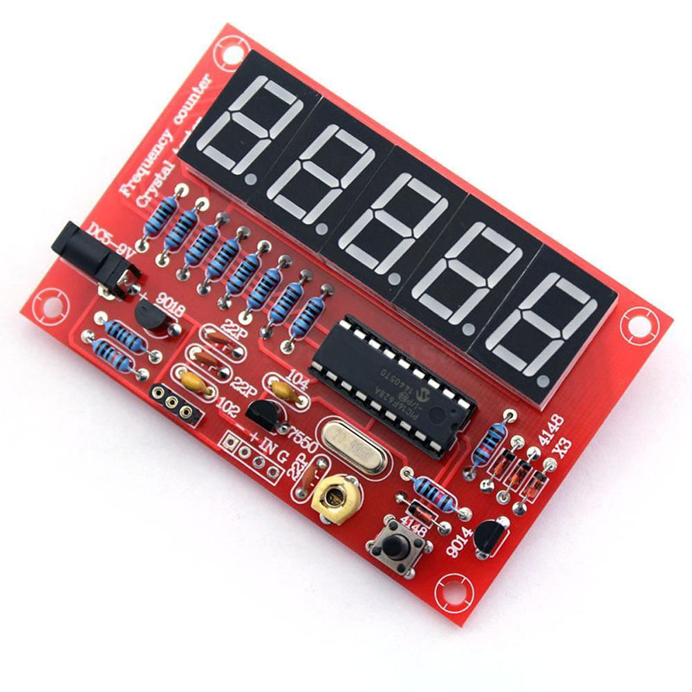 Crystal Oscillator Frequency Counter Meter 1Hz-50MHz Digital LED PIC DIY Kits New