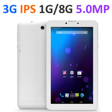 Original Smartronics Brand 3G Tablet PC SIM Phone Call tablet IPS Display MT8312 1GB 8GB Android 4.4 Dual Camera 5.0MP(China (Mainland))