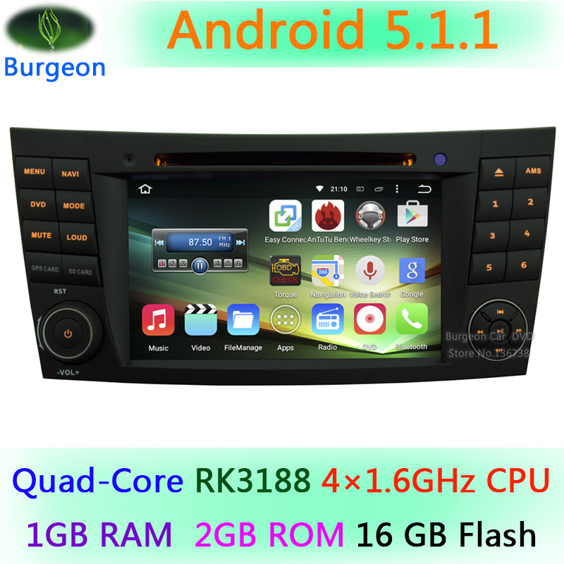 Quad Core Android 5.1.1 HD 1024*600 Mercedes Benz E G Class W209 W211 W219 W463 GPS Navigation Car DVD Player Stereo Radio - ShenZhen Burgeon Technology Co.,Ltd store