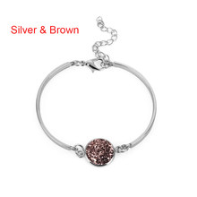 1PC Fashion Nature Stone Bracelet Big Druzy Stone Bezel Setting Large Tone Jewelry Sparkling Handmade Femme Bracelets(China)