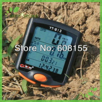 Free Shiping Hot Selling 25pcs Cycling Bicycle Bike 24 Functions Computer Odometer Speedometer with Backlight and Waterproof