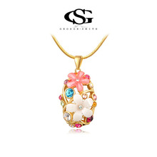 G&S George Smith Charming Jewelry Gem Multicolor Crystal Pendant 18K Gold Plated Austrian Crystals Luxury Women Necklace