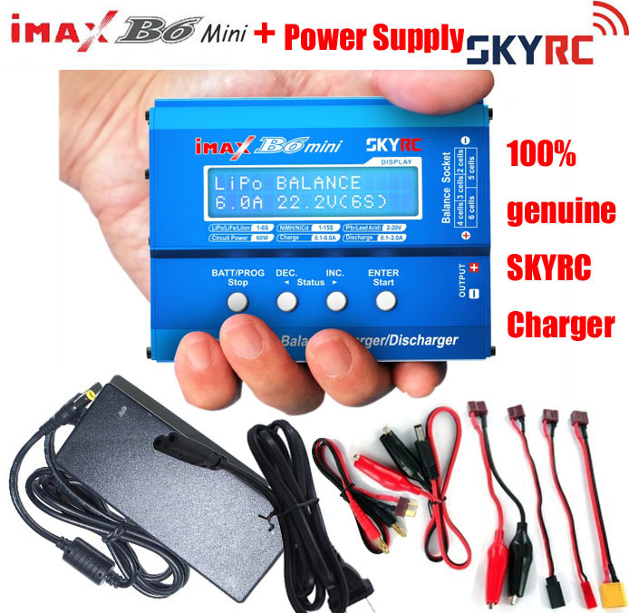 SKYRC Original IMAX B6 Mini Digital Balance Charger For RC Helicopter Car Toys Quadcopter Lipo NiMH Battery with Power Supply(China (Mainland))