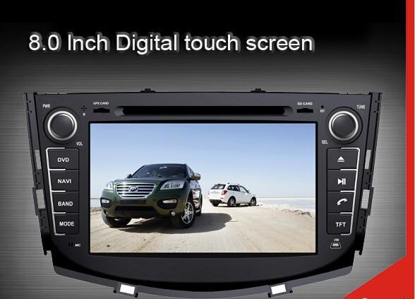Car Media for Lifan x60 with dvd GPS Navigation TV Bluetooth Radio RDS V-CDC Russian menu language,car radio for lifan x60+MAP(China (Mainland))