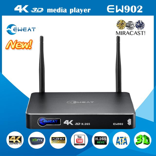 """2015 newest EW902 Realtek1195 HDMI IN+ HDMI OUT gigabit ineternet 3.5""""HDD 4K 3D media player android tv box(China (Mainland))"""