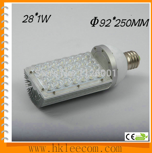 015 Real Led Alumbrado Publico 1pcs/lot E40 Led Street Light Bulbs With 28w Power, 85 To 265v Ac Voltage, Ce And Rohs-certified(China (Mainland))