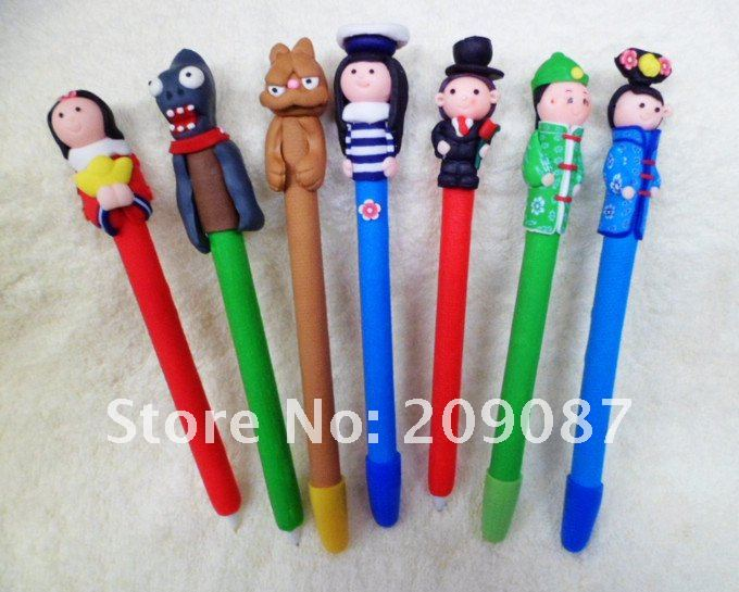 Free shipping! WHOLESALE 30pcs resonable of creative new ball pen as Children's Christmas gift craft pen(China (Mainland))