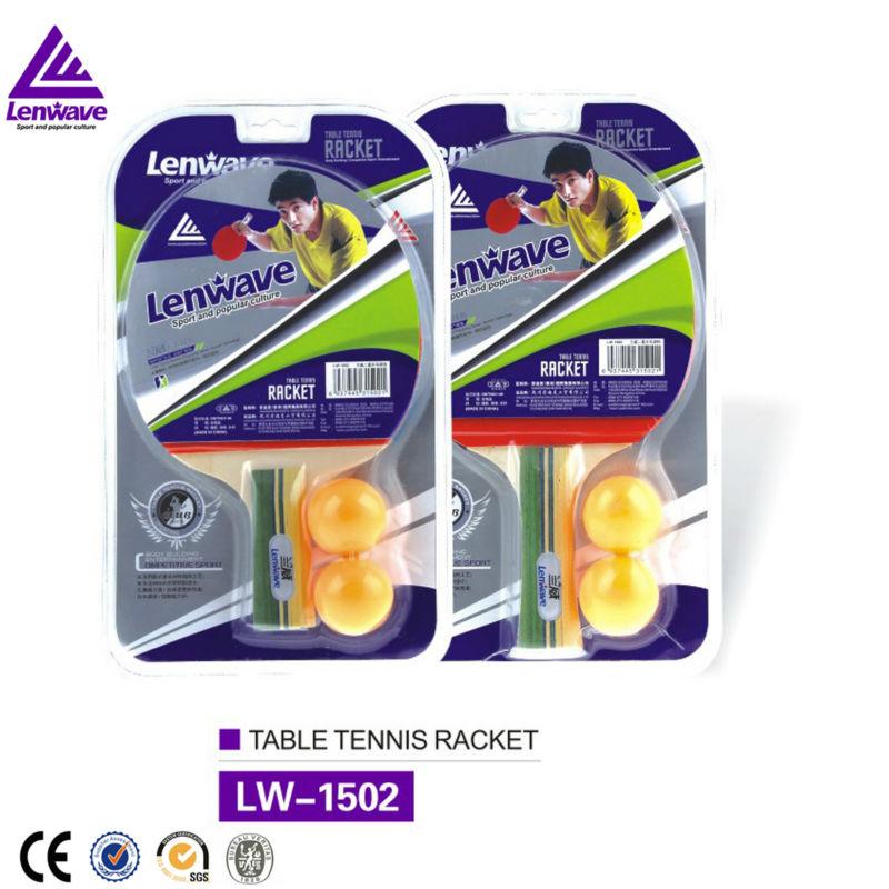 2016 Lenwave Brand 1 pcs Soft Sponge Layer Ping Pong Paddle Table Tennis Rackets + 2 Table Tennis Balls(China (Mainland))