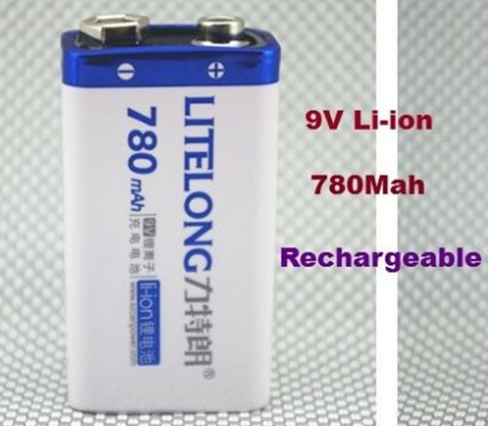 1 Batterie 9V Li-ion 780Mah Rechargeable Accu Battery Pile Accus Lithium ion PP3(China (Mainland))