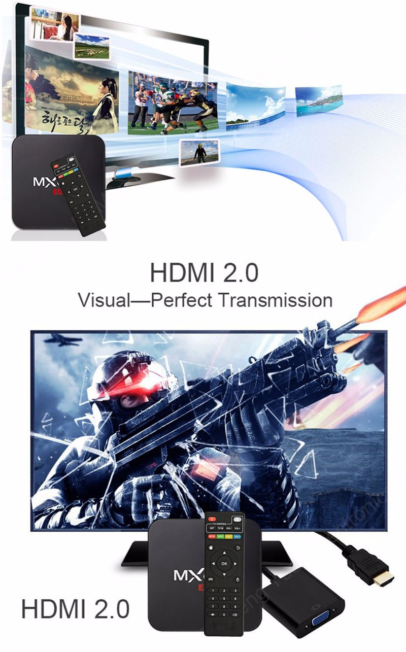 ถูก MXQpro-4K S905 Android TV Box Amlogic S905 Quad Core Android 5.1 DDR3 1กรัมHDMI 2.0 WIFI 4พัน1080i/p KDOI 15.2โหลดเต็มadd-on