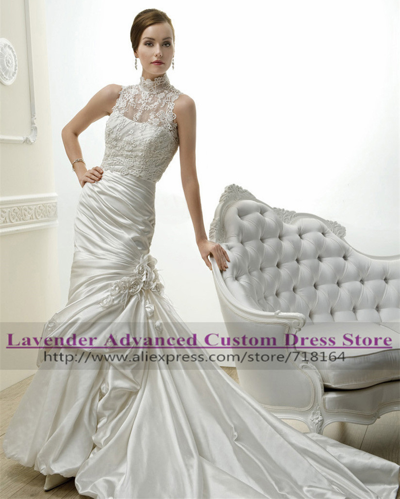 Buy vintage two pieces mermaid wedding for Wedding dresses sale online