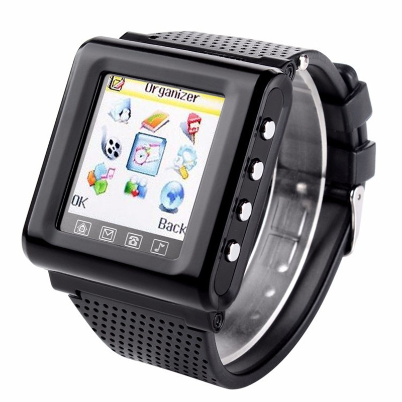 """New GSM AK812 Unlocked smart watch mobile phone 1.44"""" Touch Screen support SIM TF FM radio MP3 bluetooth Mobile Watch telephone(China (Mainland))"""