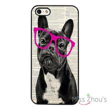 French Bulldog Cute Art back skins mobile cellphone cases cover for iphone 4/4s 5/5s 5c SE 6/6s plus ipod touch 4/5/6