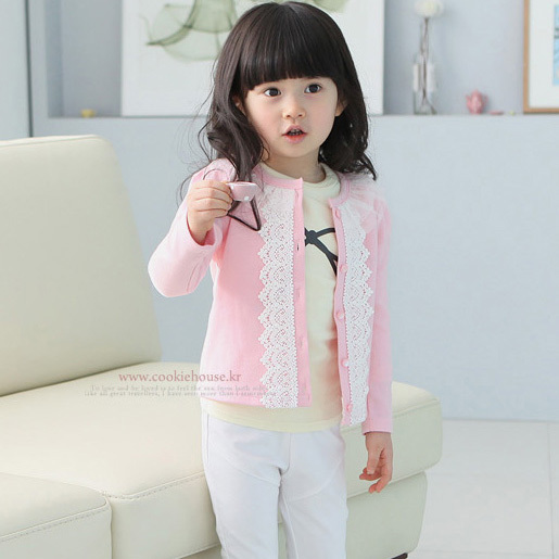 Free shipping,springtime,Hot sale 2016 children clothing for the girls,Fleece,Lace cardigan,Girl jacket,Casual,Kids wear(China (Mainland))
