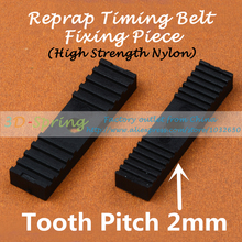 Reprap DIY Timing Belt Fixing Piece High strength nylon Tooth pitch 2mm Clamp Fixed Clip 9*40mm For 3 D Printer parts