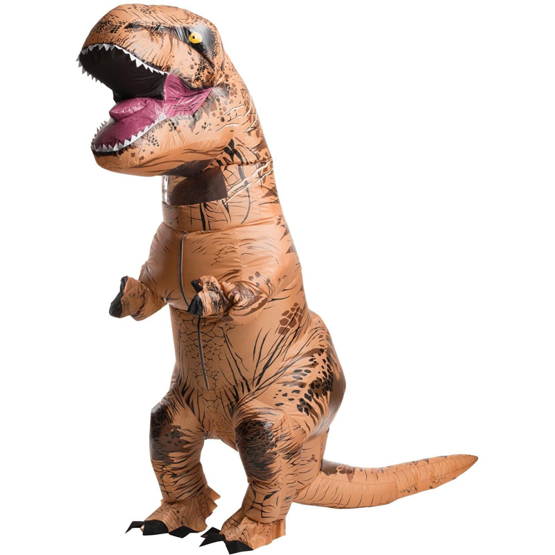 INFLATABLE Dinosaur T REX Costume Jurassic World Park Blowup Dinosaur Halloween Inflatable costume Party costume for adult(China (Mainland))