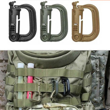 2015 Hot Free Shipping Molle Tactical Backpack EDC Shackle Carabiner Snap D-Ring Clip KeyRing Locking Wholesale(China (Mainland))