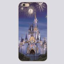 Disny castle Design black skin case cover cell mobile phone cases for iphone 4 4s 5 5c 5s 6 6s 6plus hard shell