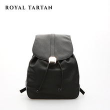 ROYAL TARTAN Luxury Famous Brand designer women genuine leather backpack 2016 girls black school bag women backpack travel bags