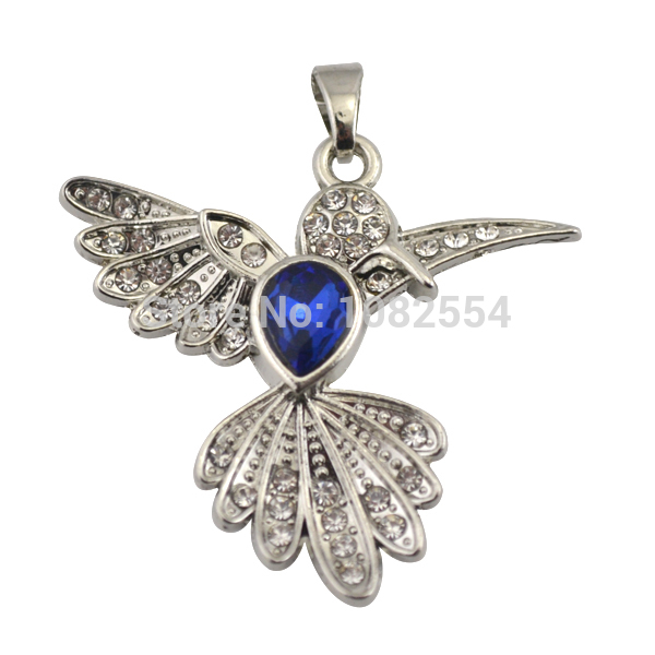 Wholesale Zinc Alloy Hummingbird &amp; Blue Birthstone Floating Pendant Charms With Oval Buckle<br><br>Aliexpress