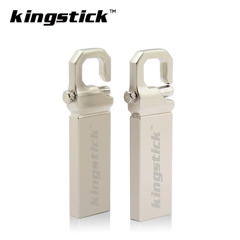 New Kingstick brand Silver metal pen drive 4GB 8GB 16GB 32GB 64GB USB flash drive USB 2.0 memory U disk pendrive Thumbdrive(China (Mainland))