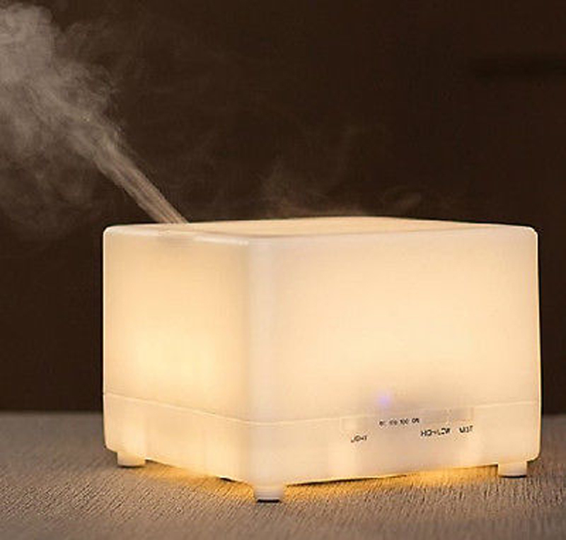 Гаджет  Large Capacity 700ml Ultrasonic Warm White Perfume Diffuser Aroma Atomizer Air Humidifier LED With Timer High/Low Mist Output None Бытовая техника