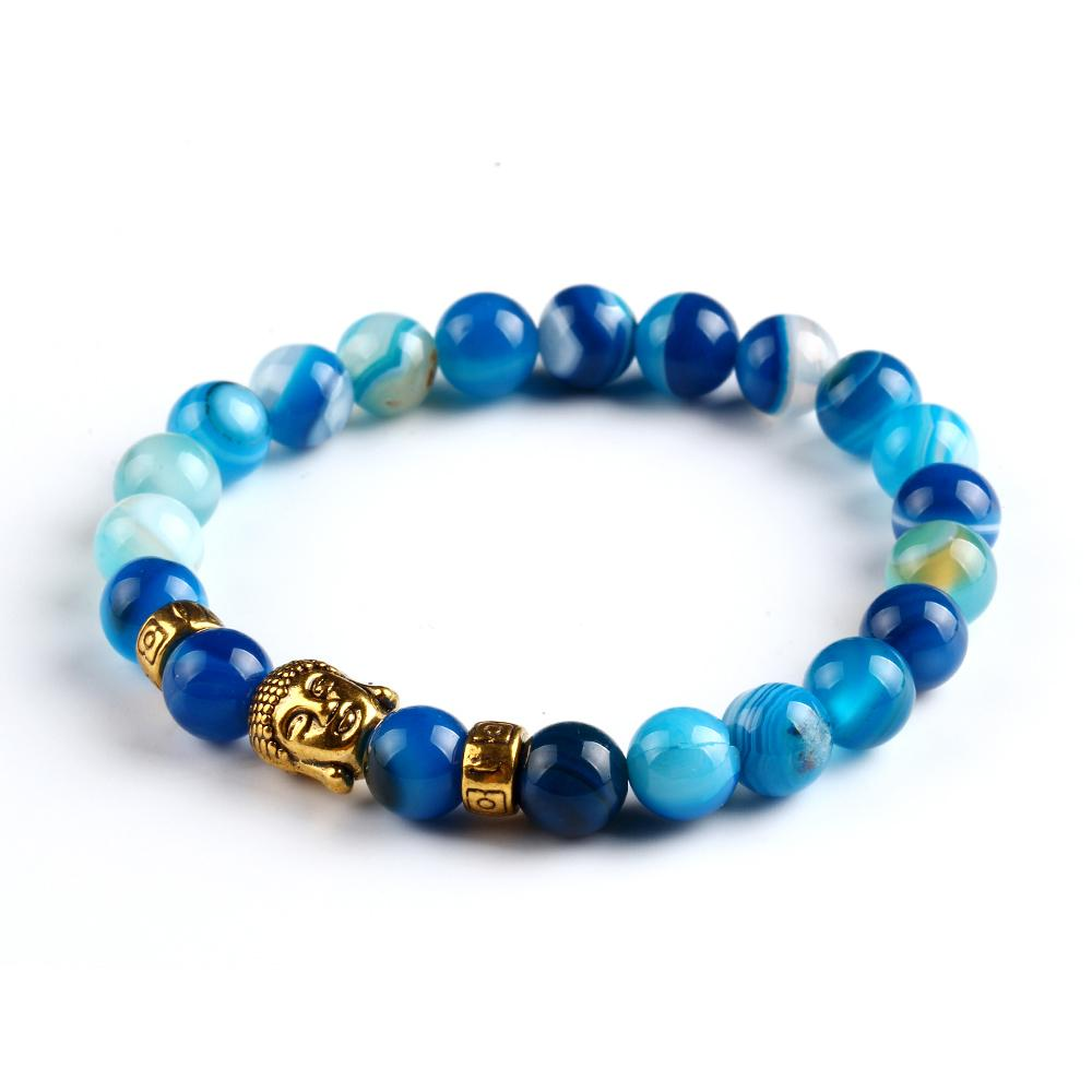 Lava Stone Onyx Bead Buddha Bracelet Gold Buddha Turquoise Black Yoga bracelets Men Women Mujer Pulseras Fashion Jewelry CS16(China (Mainland))