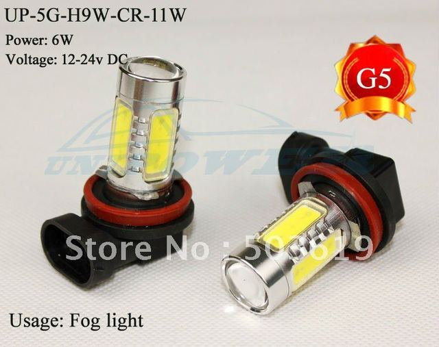 Hot selling High-power LED vehicle fog light H9 12-24V 11W the 5th generation LED FOG LIGHT CREE chip free China post mail