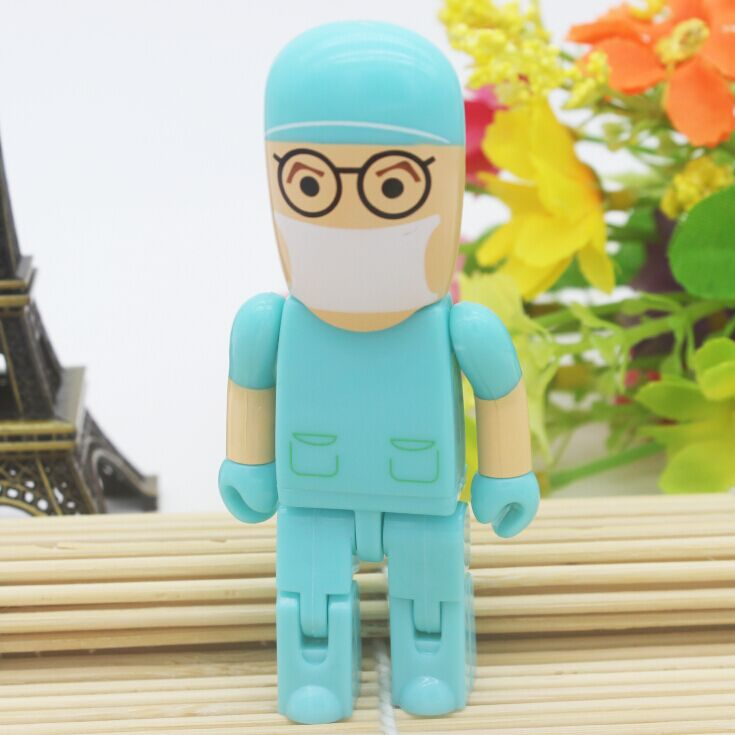 New hot 8GB beautiful doctor Model usb flash drive USB 2.0 Memory Flash Stick Pen Drive 4GB 16GB 32GB U disk free shipping(China (Mainland))