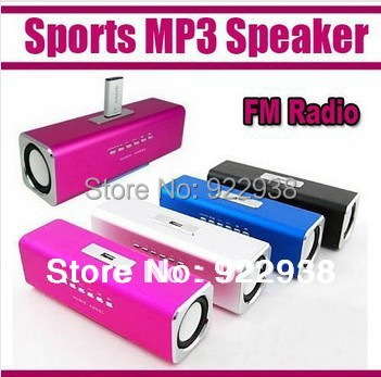 Free shipping to Russia/Spain!! Mini Speaker Portable Sound box Mobile Music with TF Card slot +reader USB slot + FM Radio(China (Mainland))